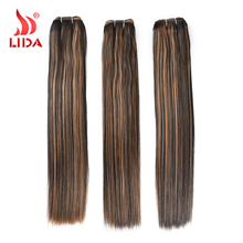 Ombre Yaki Straight hair weaves Double Long Weft extensions Synthetic 1B/27 Xuchang hair suppliers