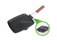 die-casting aluminum carbon steel grill pan with non-stick coating