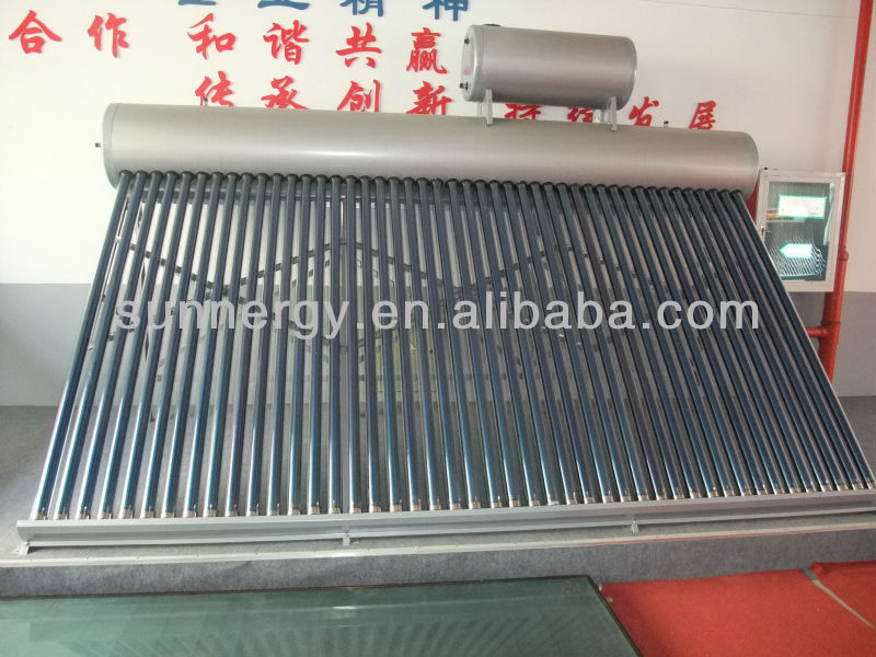 2013 eco-friendly pressurized Solar thermal energy hot water for household needs