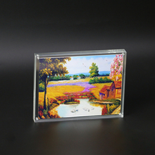 Edges Polished Picture Frames 4x6''/5x7'' Clear Display Frame Panoramic Magnetic Acrylic Photo Frame