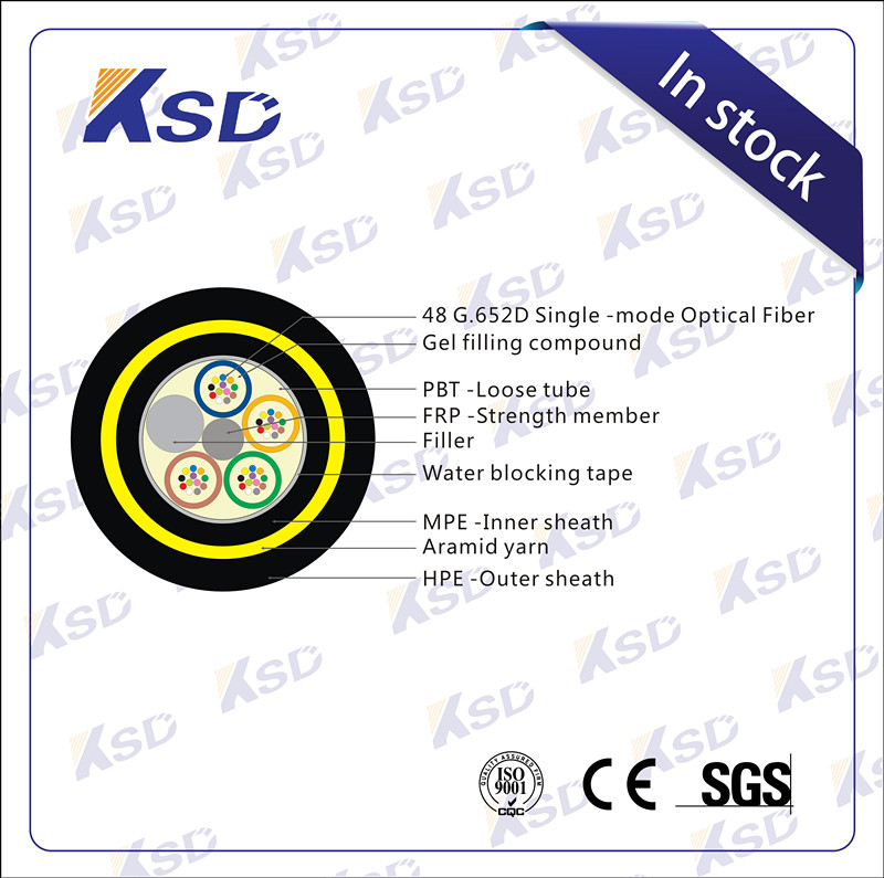48 core fiber optic adss cable manufacturer sc sx mm fiber optic patch cord double sheath kevlar cable
