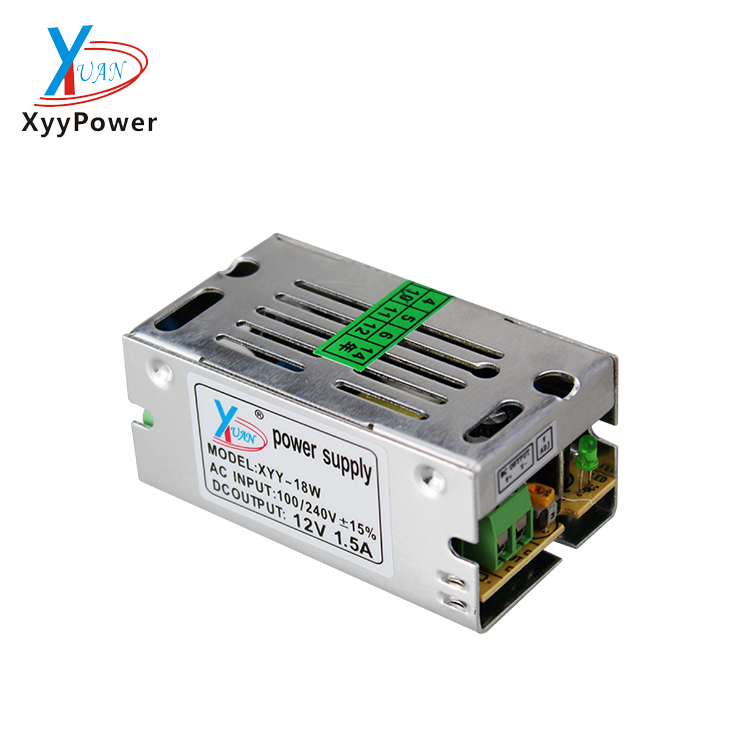AC DC Singal output 12v 1.5a 18w small mini size Led switching power supply Factory direct sale