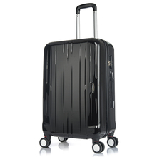 Wenzhou Factory 3-Piece Black Luggage Spinner Suitcase With combination Lock