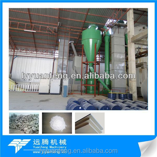 High quality and best sell gypsum/plaster powder production line