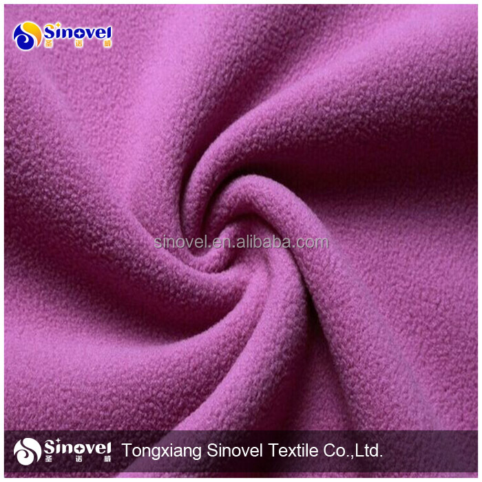 Hot sell wholesale polar fleece one sides brushed one side antipilling fabric