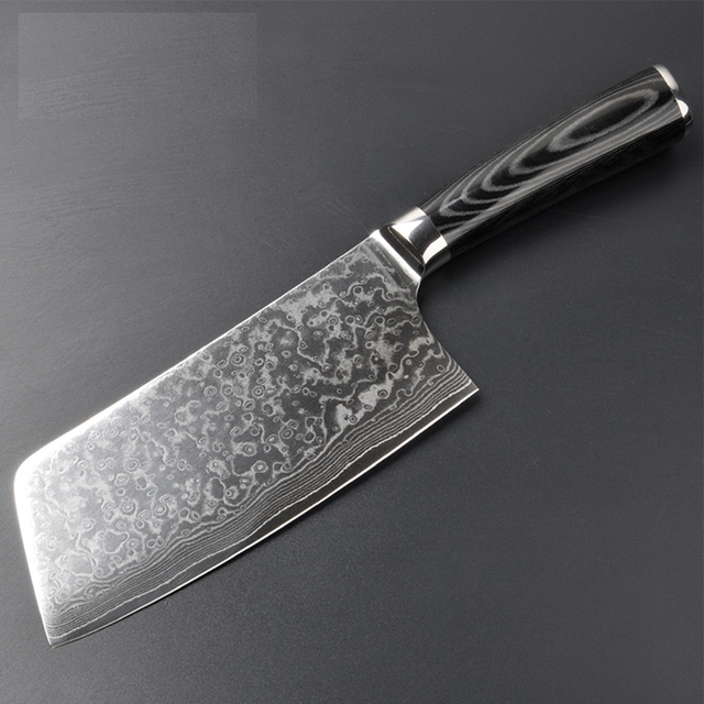 GHL DK 2545 67 layer VG10 damascus blade and Spain Micarta handle Seamless welding Chinese kitchen knife for chef