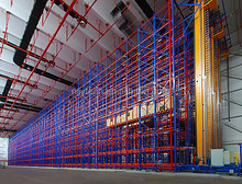 Automatic Warehouse Pallet Racking System , Automated storage & retrieval system