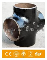 Forged Carbon Steel Butt Weld Pipe Fitting Dimension Cross