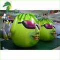 Green Funny Cartoon Character Inflatable Air PVC Pot Plant Head Model Balloon