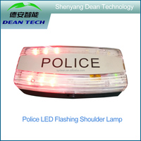 Police LED Flashing Shoulder Lamp With