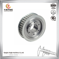 Precision casting pulley stainless steel investment casting belt timing pulley with painting finish
