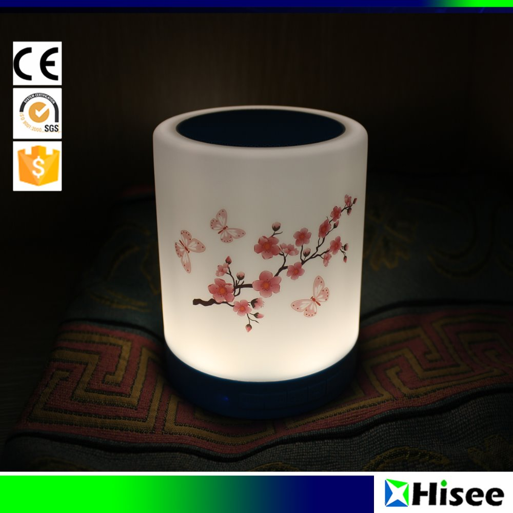 Factory wholesale new product portable led table light with wireless bluetooth speaker