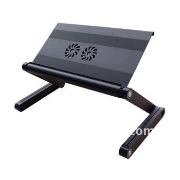 Multi-Funtion Protable Laptop Table, Protable Folding Laptop Desk (Purple) Desk / Stand, Bed Desk Bed Tray
