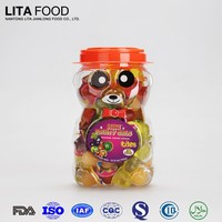 Natural fruit flavor 16g fruit jelly cup in bear jar