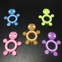 BPA Free Animal Custom Made Silicone Baby Teether toys