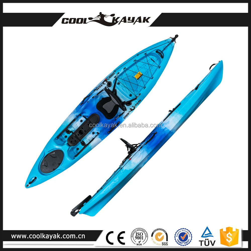 Cheap fishing kayak dace pro angler with pedals and rudder for Fishing kayaks for sale cheap