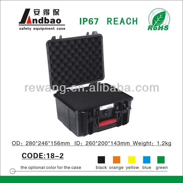 ABS Plastic equipment case with mounting studs
