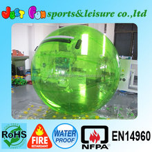 Cheap inflatable human sized hamster ball for sale, colourful hamster ball for adults same price with clear ball