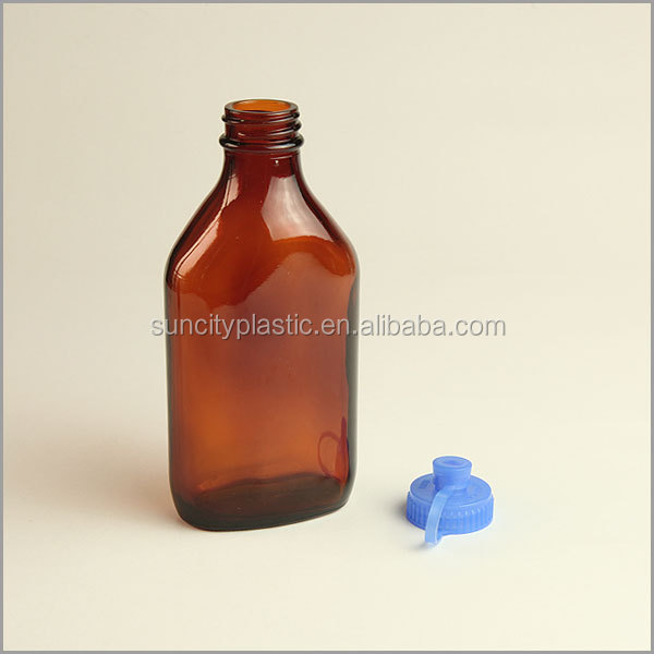 50-500ml Oval Amber Glass Medical Bottles from China Factory