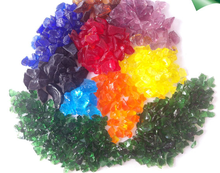 Crushed Colored Glass rocks for landscaping decoration