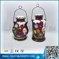 Lantern shaped LED flash christmas nativity scene, china christmas nativity, christmas decoration supplies
