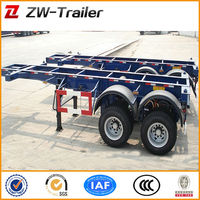 2 Axle 30ft Skeleton Container Semi Trailer/Container Chassis For Sale(Size&Axle Optional)