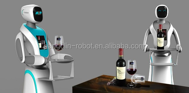 Restaurant robot to delivery meals waiter robot Automatic smart robot