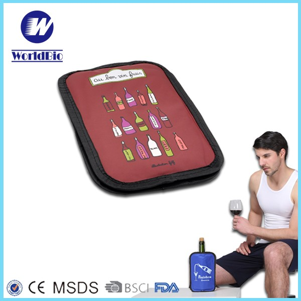 Resuable Wine Cooler Bag with T-shirt shape gel pack