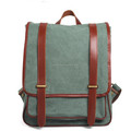 Fashion durable korean style vintage roll top canvas backpack for school