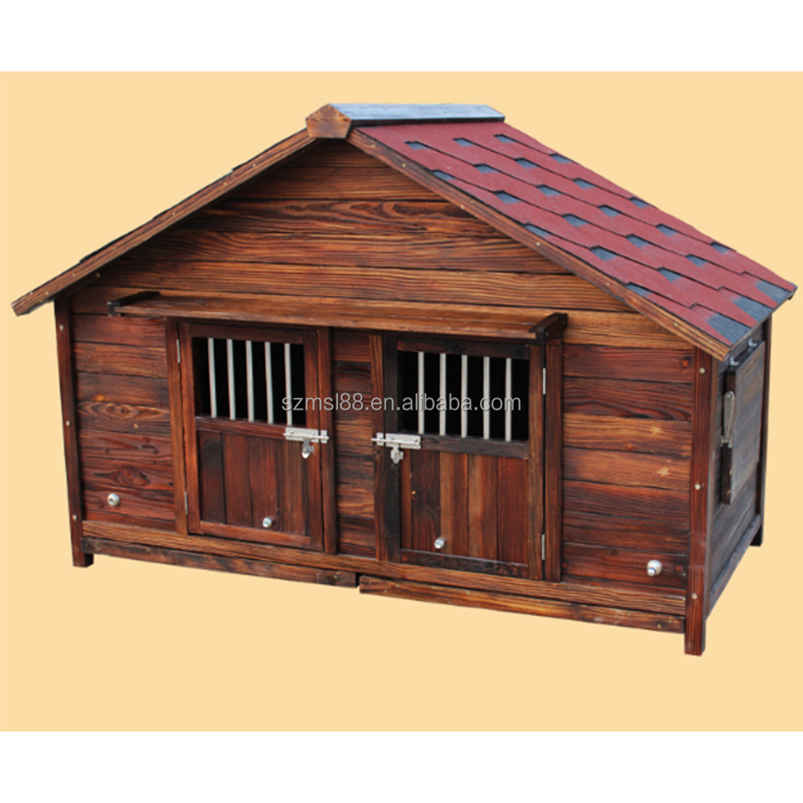 outdoor waterproof comfortable wooden heavy duty dog kennel wholesale