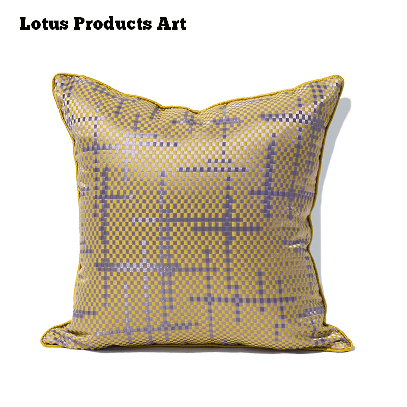 2018 Hot Sale Silk Knit Muti Color Digital Printed Christmas Gold Pillow Case