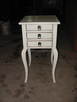 antique style small wooden bedside table