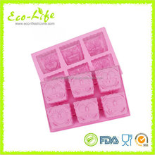 Smiling Face Silicone Ice Cube Tray, Handmade Silicone Soup Mold, Cake Mold