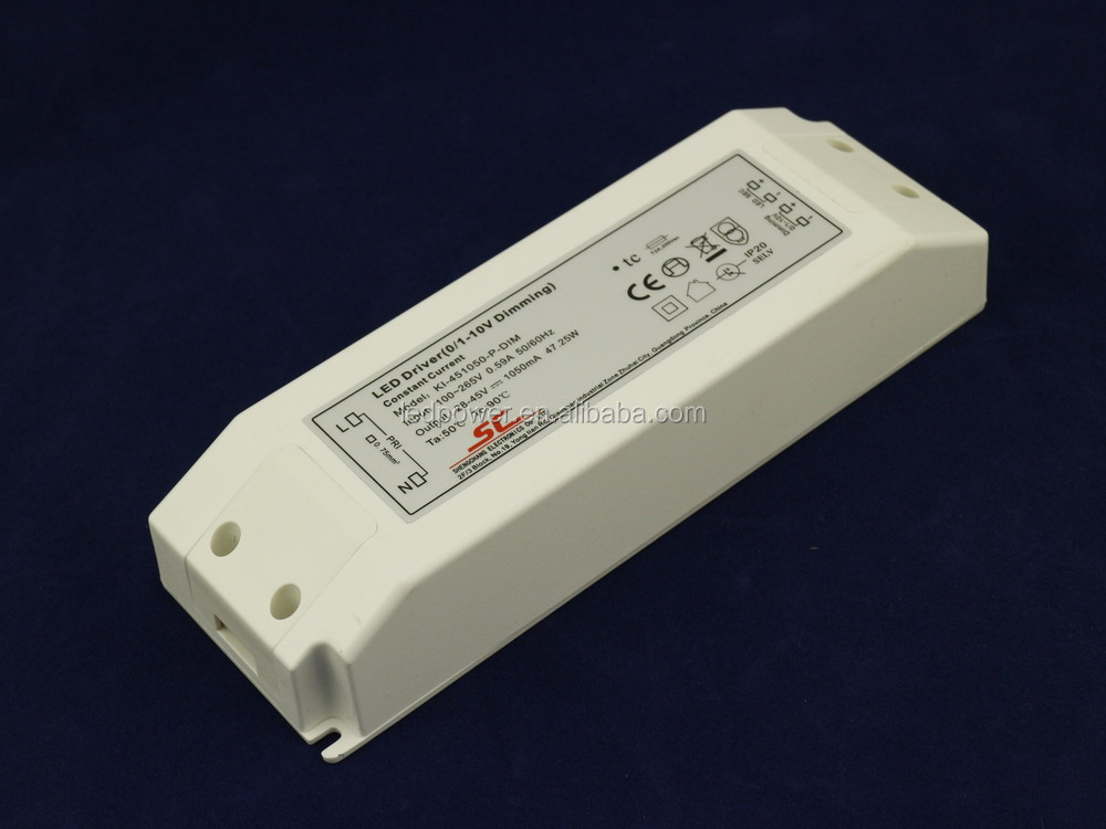 45W 1050mA C.C. 0-10V dimmable LED light driver