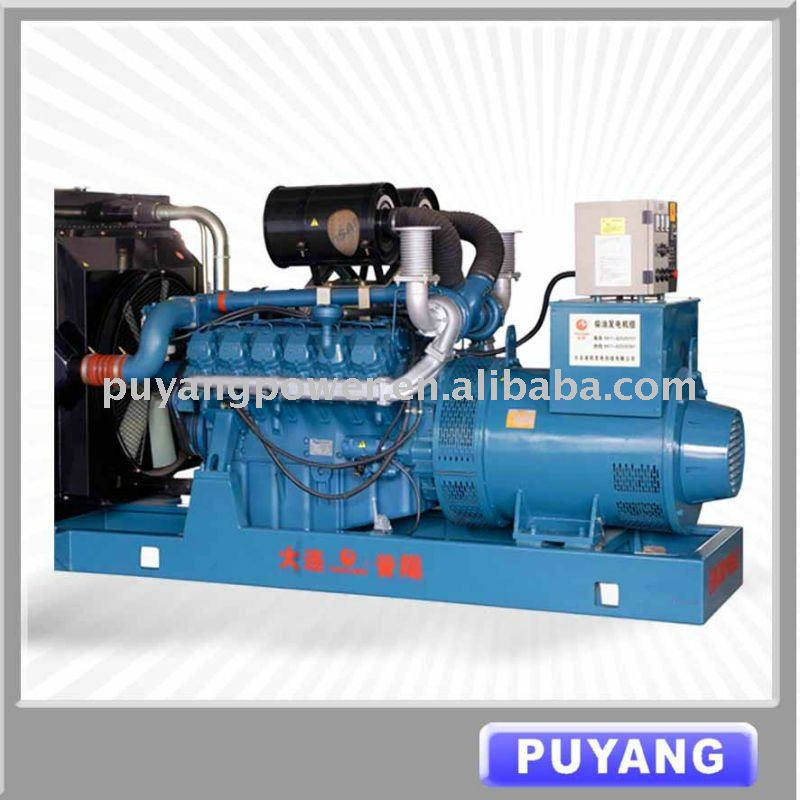 CE approved 500kW/625kVA Korea Doosan watercooled industrial power generator with ATS and MCCB