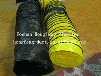flexible plastic type pvc ducting the end with rope, iron buckle, plastic buckle, clamp