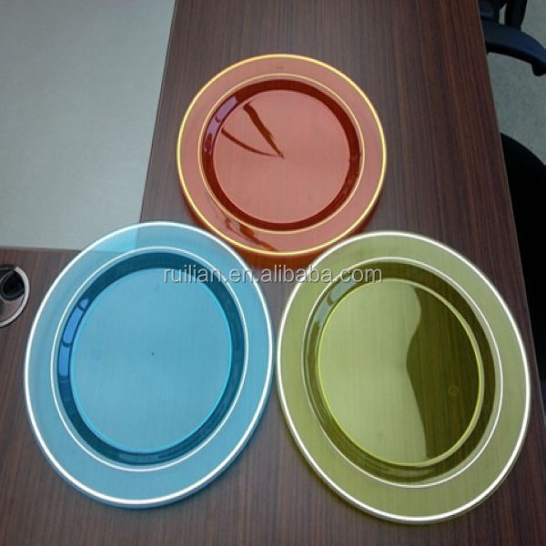 Christmas Party Colorful Plastic Plates China Manufacturer/Public Mold Plastic Plates