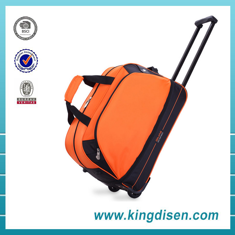 Wholesale new style polyester travel bag trolley luggage