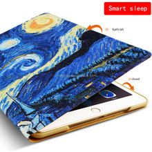 Painting Leather Case with Stand, Dance Monkey Customized Tablet Cover Case for iPad AIr3 for New ipad