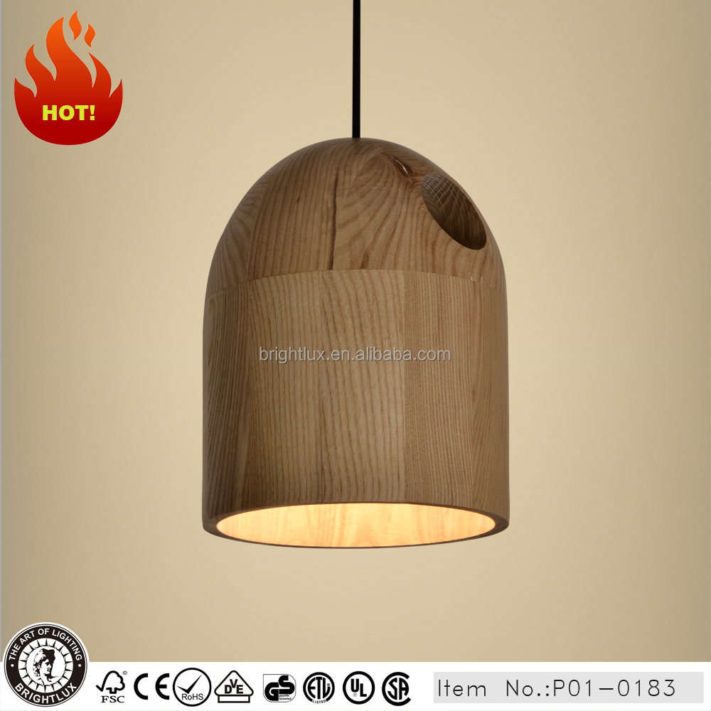 crafted modern light wood hanging lamp for home P1-0183