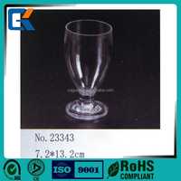 Clear plastic cup elegant acrylic ice cream glass with CIQ certificate