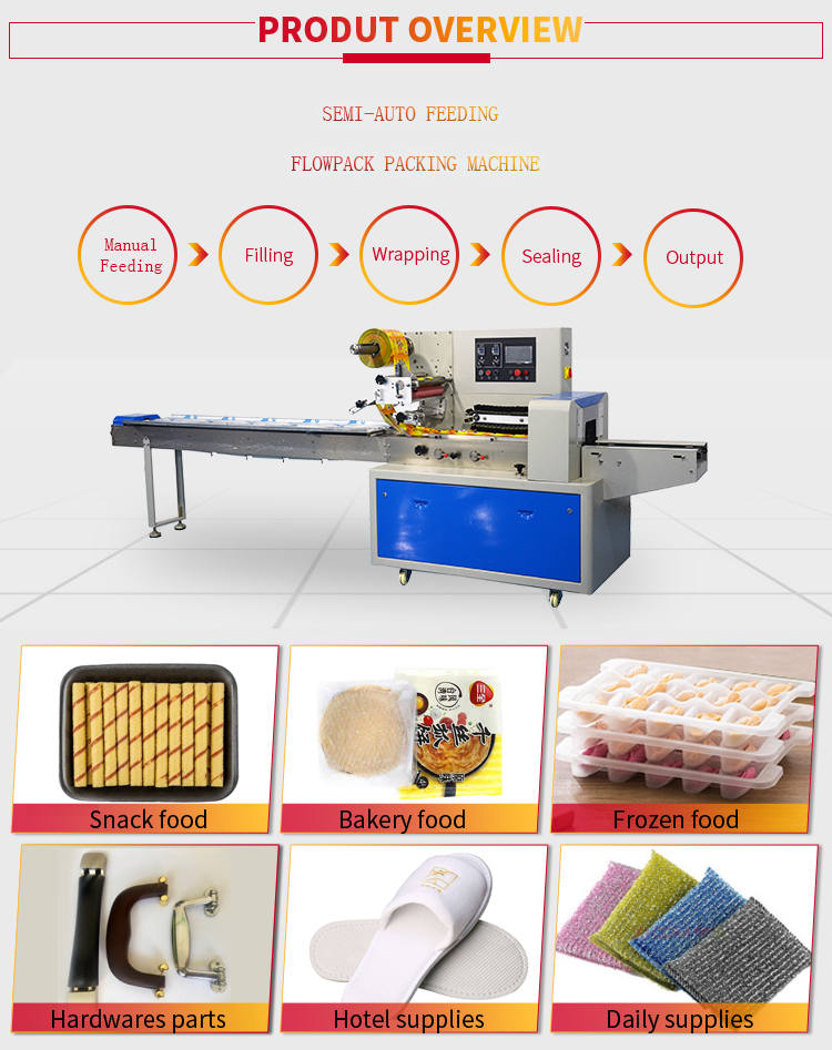 Good Price Horizontal Pillow Type Packaging Machine for Egg Roll