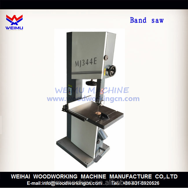 angle cut 45 degree band saw cutting machine for wood MJ345E