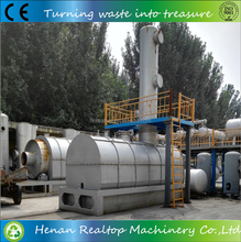 Continuous waste lubrication oil refining system