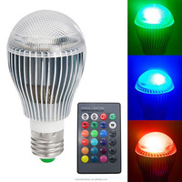 New Products 9W Led Bulb e27 Led Light Color LED RGB Magic Led Bulb With Wireless Remote