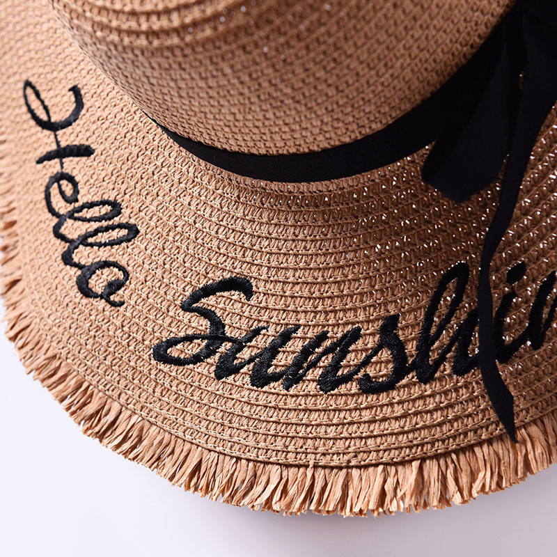 Ladies Summer Hats with Brim New Straw Hats for Women Beach Sun Hats Floppy Sunhat