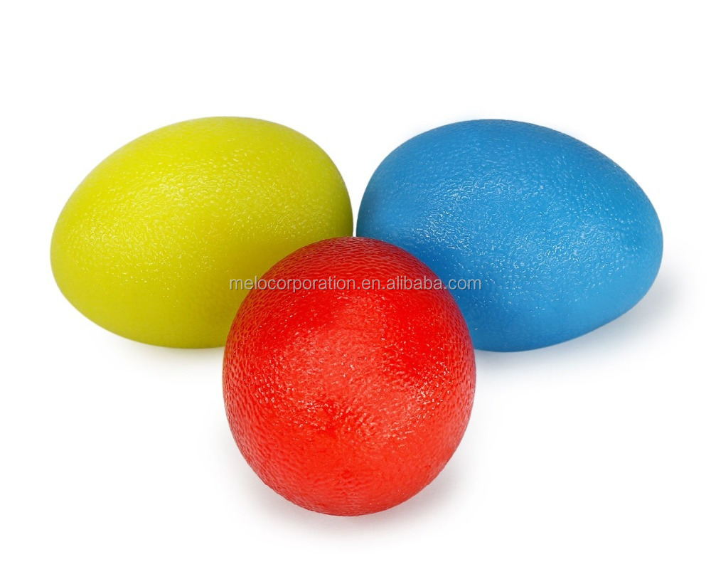 Rubber Egg Shaped Hand Therapy Exercise Ball Kit