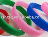 laser engraved silicone wristband
