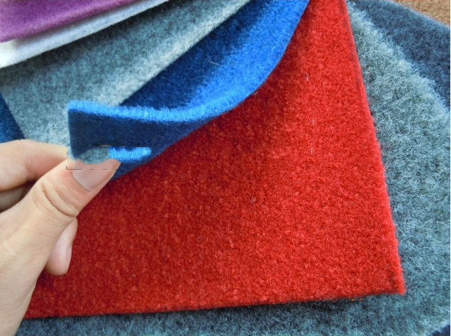 Plain nonwoven PP or polyester exhibition carpet outdoor carpets