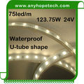 2 years warranty 24.75W per Meter 375LEDs flexible led thin rope light